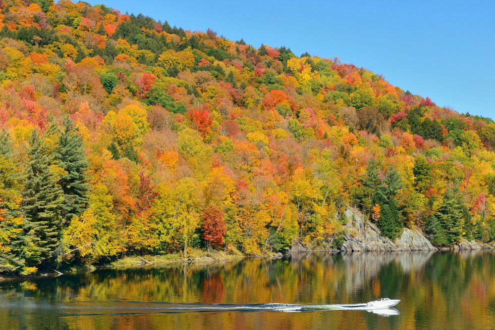 10 Best Things To Do In Stowe VT: Lake Autumn Foliage