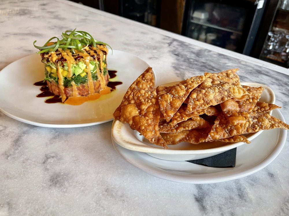 7 Must-Try Bay St. Louis Restaurants: Tuna Tower and Crispy Wonton Chips