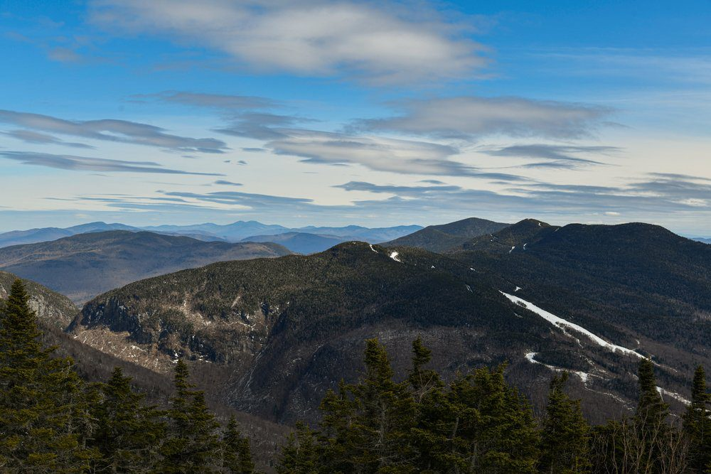 10 Best Things To Do In Stowe VT: View from Mt. Mansfield Vermont at Stowe ski resort