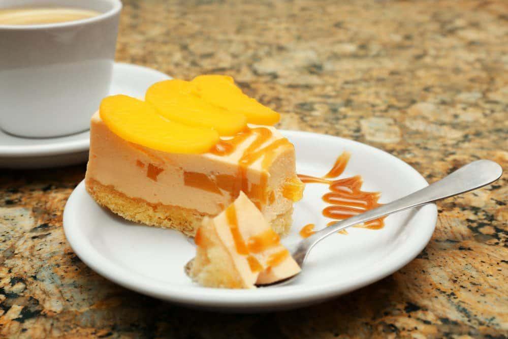 8 Must-Try Downtown Charleston Restaurants: Peach Cheesecake