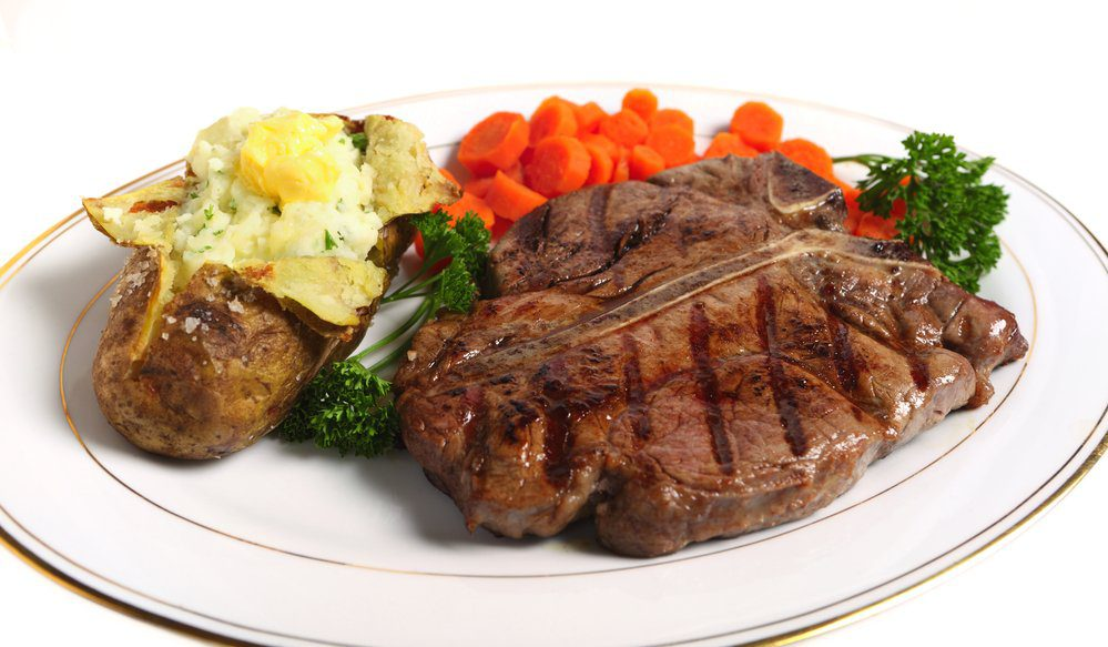 Mexican Steak with Baked Potato