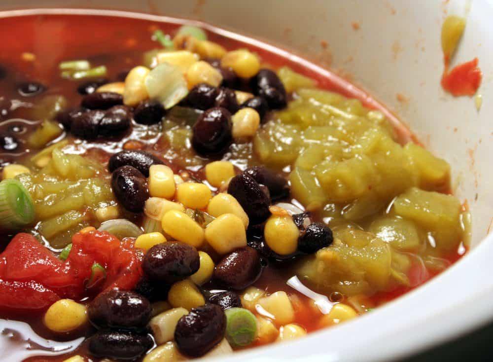 Mexican black bean & corn soup