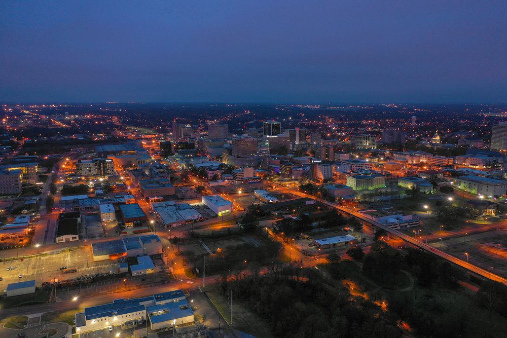 Things To Do In Jackson MS: Aerial Shot Of Jackson