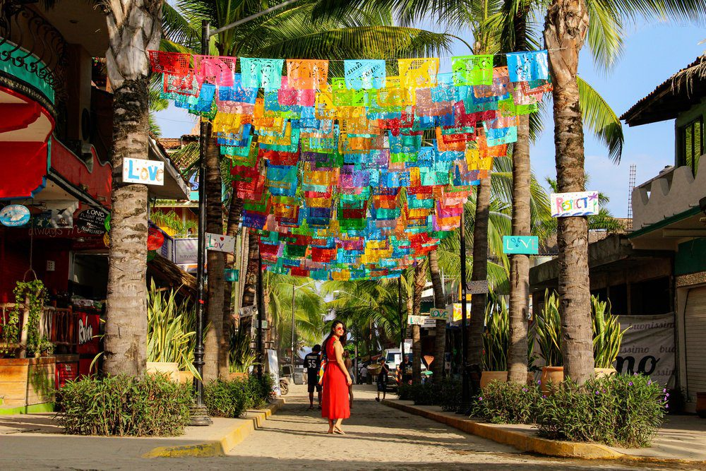 The Best Things To Do in Sayulita: Colorful Flag Street