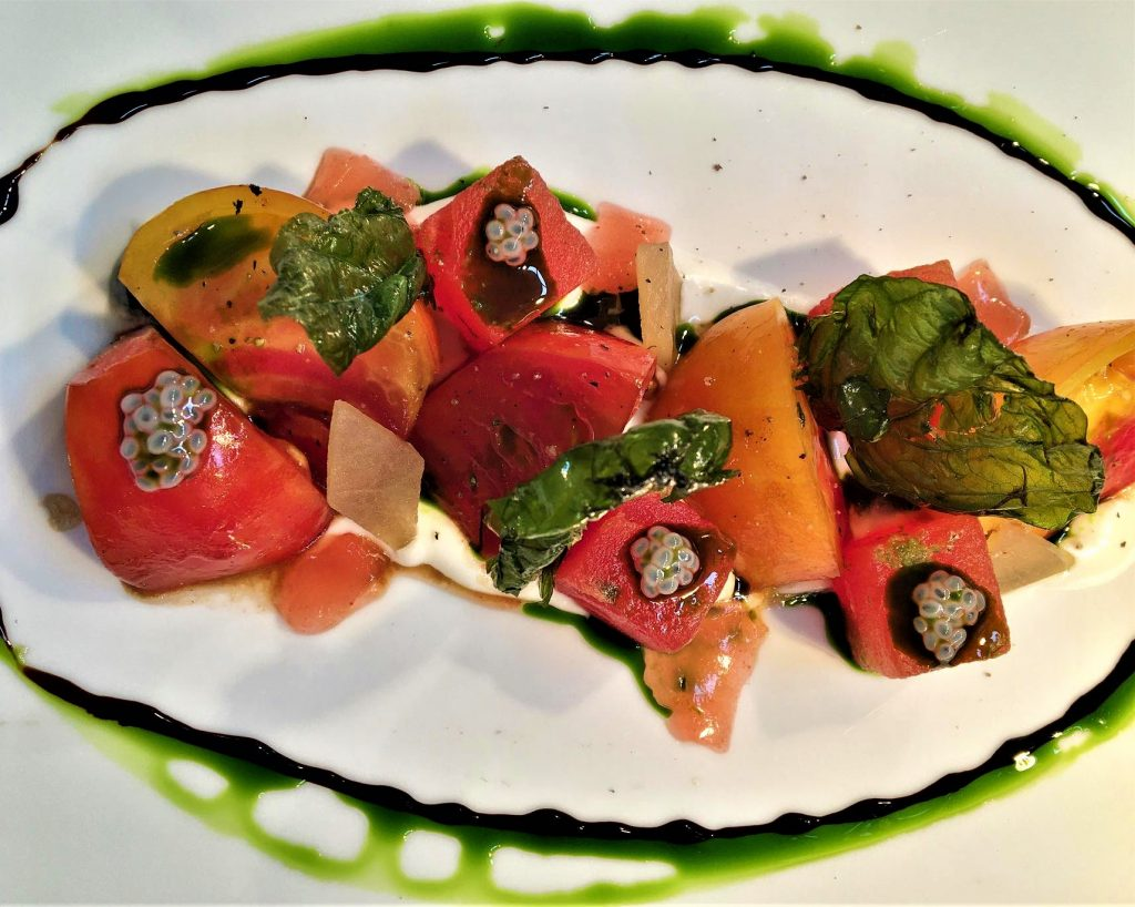 The 8 Best Paso Robles Restaurants: Heirloom Tomato and Watermelon Salad
