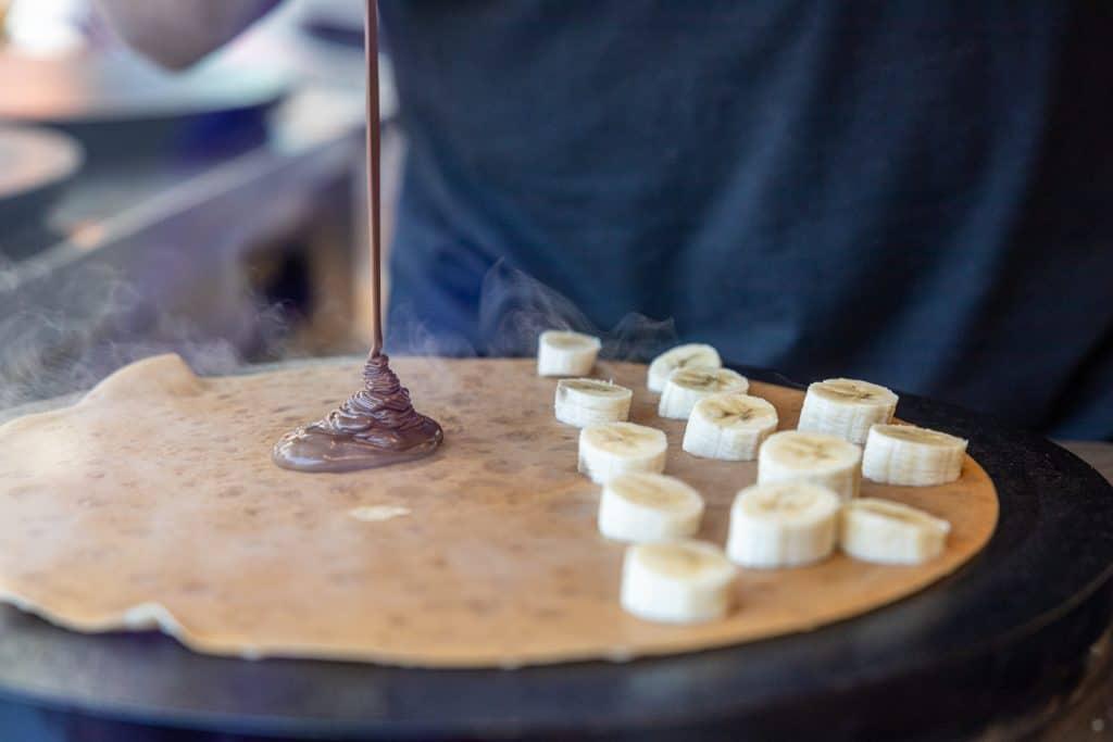 Best Pier 39 Restaurants: Banana and Chocolate Crepe